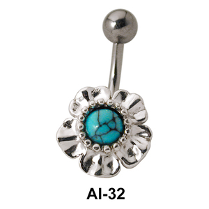 Flower Shaped Belly Piercing AI-32
