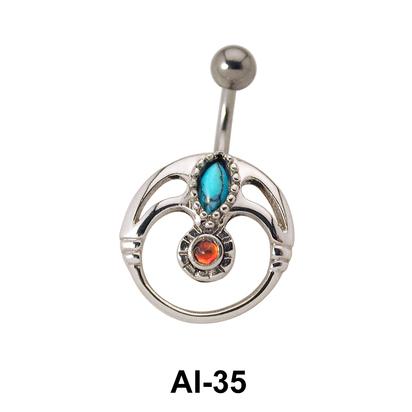 Unique Design Belly Piercing AI-35