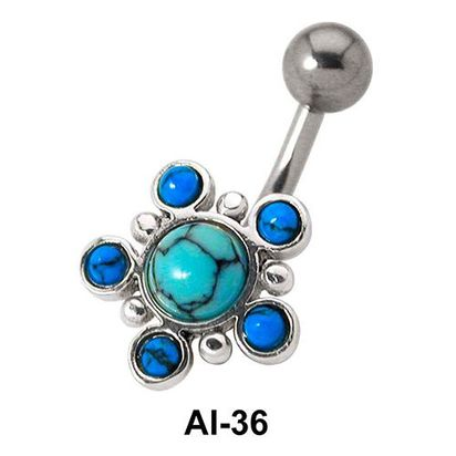 Multiple Stone Belly Piercing AI-36
