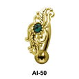 Attractive Belly Filigree Piercing AI-50
