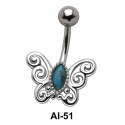 Butterfly Belly Filigree Piercing AI-51