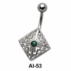 Diamond Shaped Belly Filigree Piercing AI-53