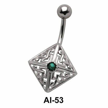 Diamond Shaped Belly Filigree Piercing AI-53