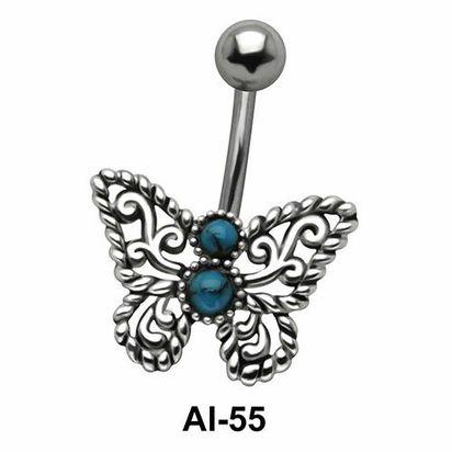 Butterfly Belly Filigree Piercing AI-55