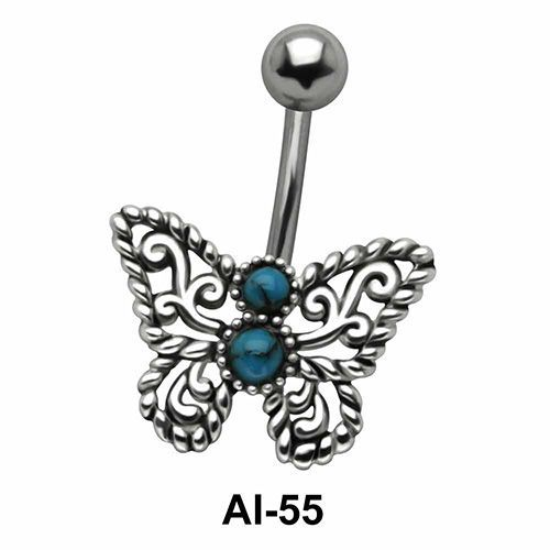 Butterfly Belly Filigree Piercing AI-55
