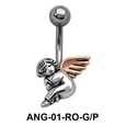 Seating Fairy Shaped Belly Piercing ANG-01