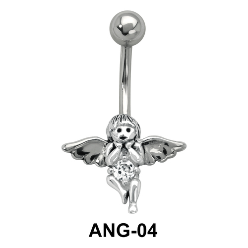 Elf Shaped Belly Piercing ANG-04