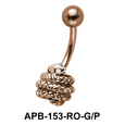 Coiled Snake Belly Piercing APB-153