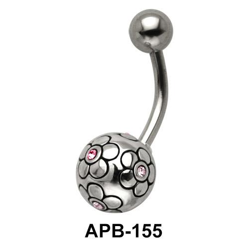 Flower Ball Belly Piercing APB-155