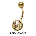 Hollow Heart Ball Shaped Belly Piercing APB-159