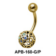 Cute Butterfly Ball Belly Piercing APB-160