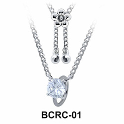 Round CZ Closure Rings Belly Piercing Chains BCRC-01