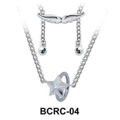 Star Closure Rings Belly Piercing Chains BCRC-04