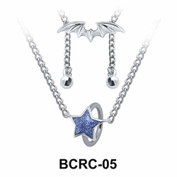 Enamel Star Closure Rings Belly Piercing Chains BCRC-05