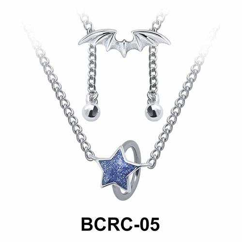 Enamel Star Closure Rings Belly Piercing Chains BCRC-05