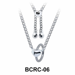 Heart Closure Rings Belly Piercing Chains BCRC-06