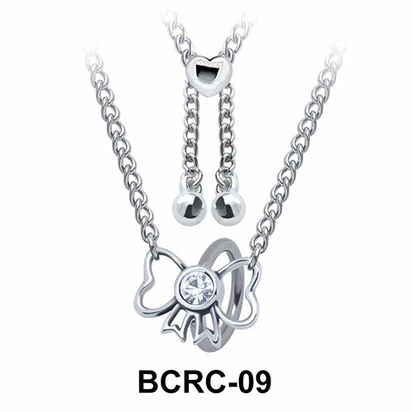 Pretty Bow Closure Rings Belly Piercing Chains BCRC-09