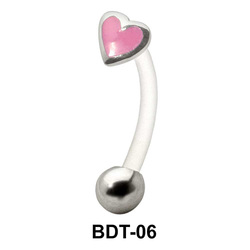 Enameled Heart Belly Touch BDT-06