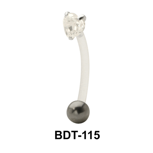 Heart Stone Encrusted Belly Touch BDT-115