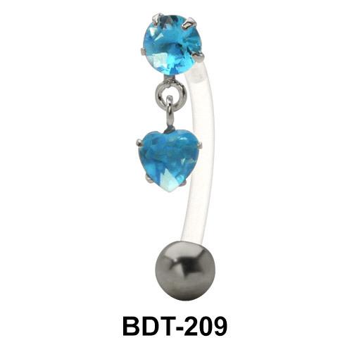 Aqua Stone Belly Piercing BDT-209