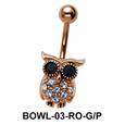 Owl Shaped Belly Piercing BOWL-03