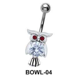 Owl Shaped Belly Piercing BOWL-04