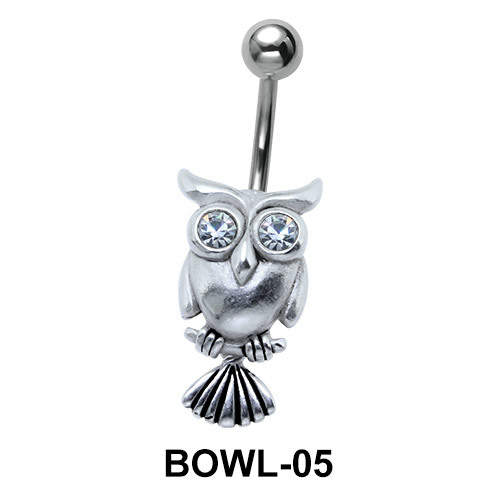 Owl Shaped Belly Piercing BOWL-05