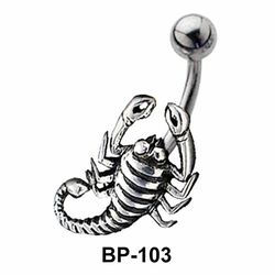 Scorpion Shaped Belly Piercing BP-103