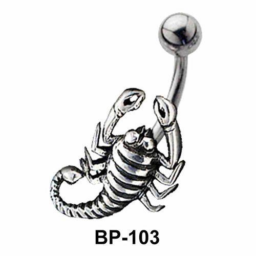 Scorpion Shaped Belly Piercing BP-103