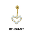 Pearl Heart Belly Pearl Piercing BP-1061