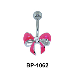 Pink Bow Belly Piercing BP-1062
