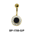 Black Agate Belly Piercing BP-1789