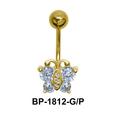 Butterfly CZ Belly Piercing BP-1812