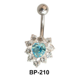 Heart Shaped Belly Piercing BP-210