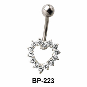 Heart Shaped Belly Piercing BP-223