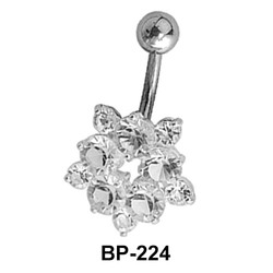 Flower Shaped Belly Piercing BP-224