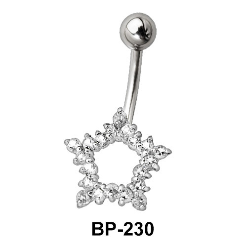 Star Shaped Belly Piercing BP-230