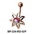 Flower Shaped Belly Piercing BP-234