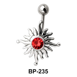Vivid Sun Shaped Belly Piercing BP-235