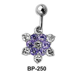 Flower Shaped Belly Piercing BP-250