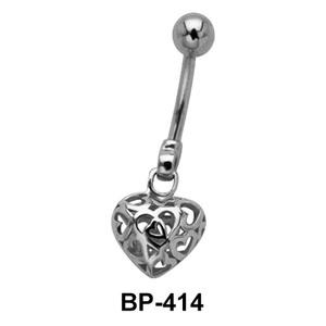 Beautiful Heart Belly Piercing BP-414
