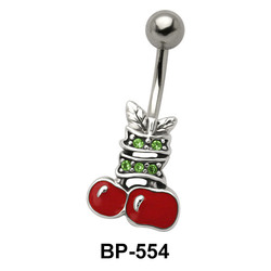 Apple with Leaves Belly Piercing BP-554