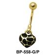Heart Shaped Belly Piercing BP-558