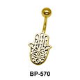 Hamsa Belly Piercing Design BP-570