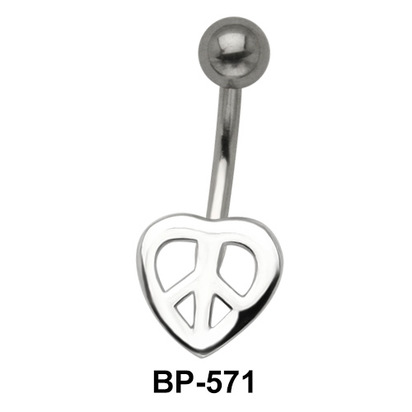 Peace Heart Belly Piercing BP-571