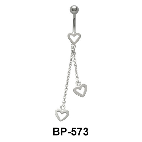 Pair of Chained Heart Shaped Brass BP-573