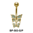 Dual Butterflies Belly Piercing BP-583