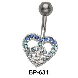 Dreamy Heart Stone Belly Piercing BP-631