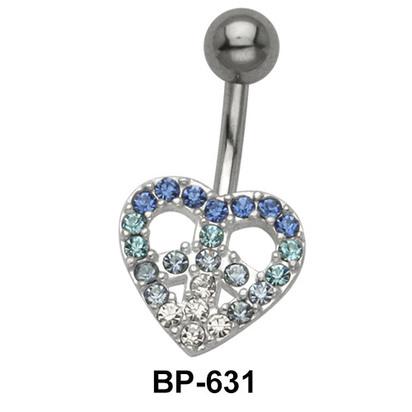 Dreamy Heart Stone Belly Piercing BP-631