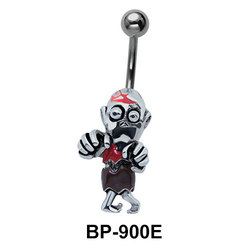Aged Male Figure Belly Piercing BP-900E